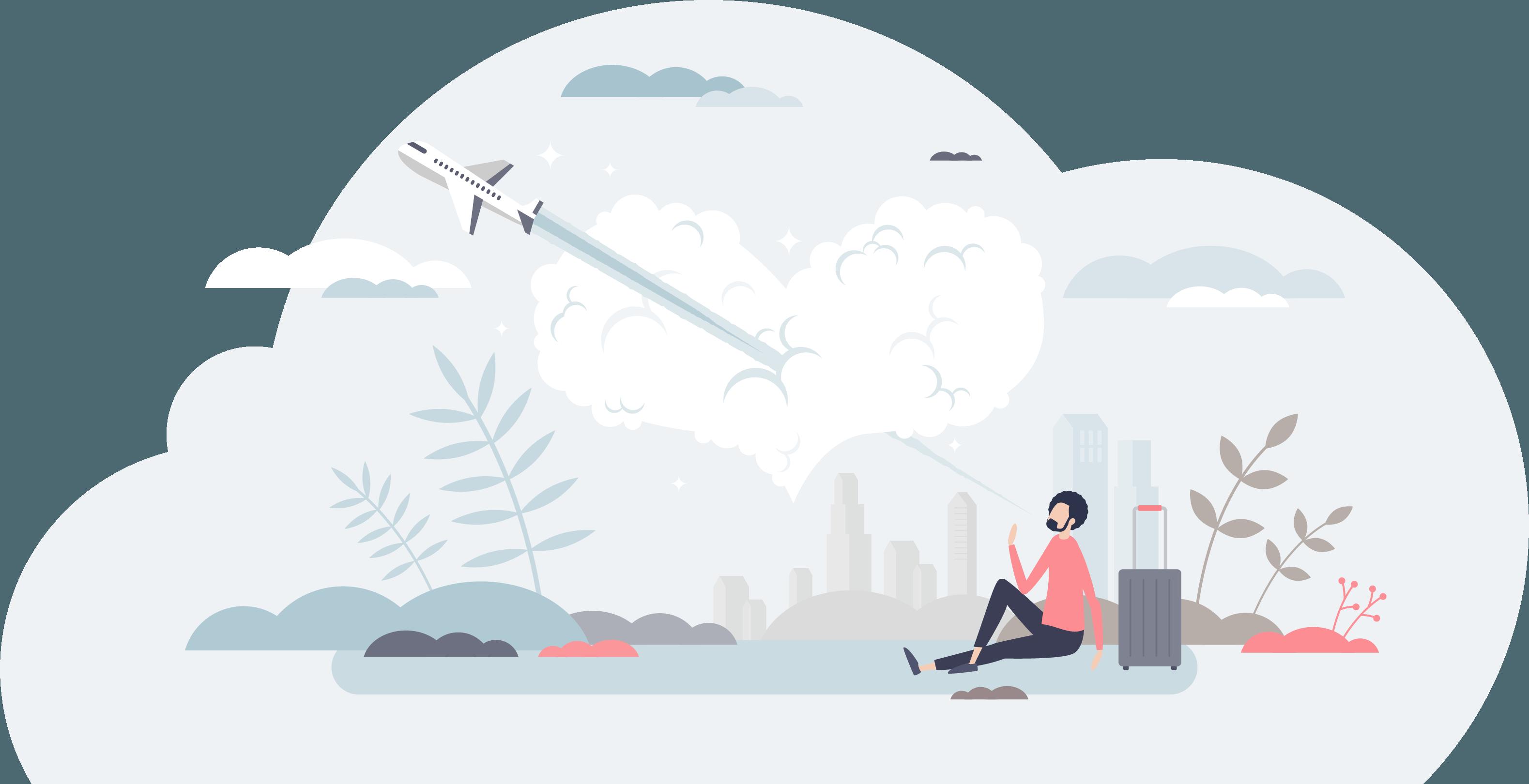 Illustrated Plane Image